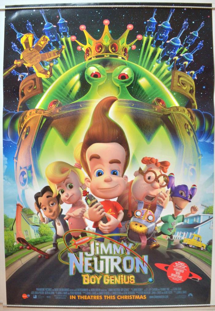 jimmy neutron boy genius original cinema movie poster from