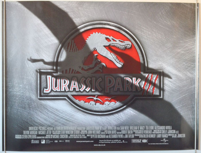 Jurassic Park III - Original Cinema Movie Poster From pastposters ...