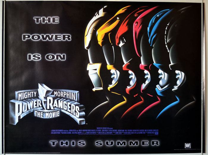 1995 Movie Posters: Mighty Morphin Power Rangers (Teaser)