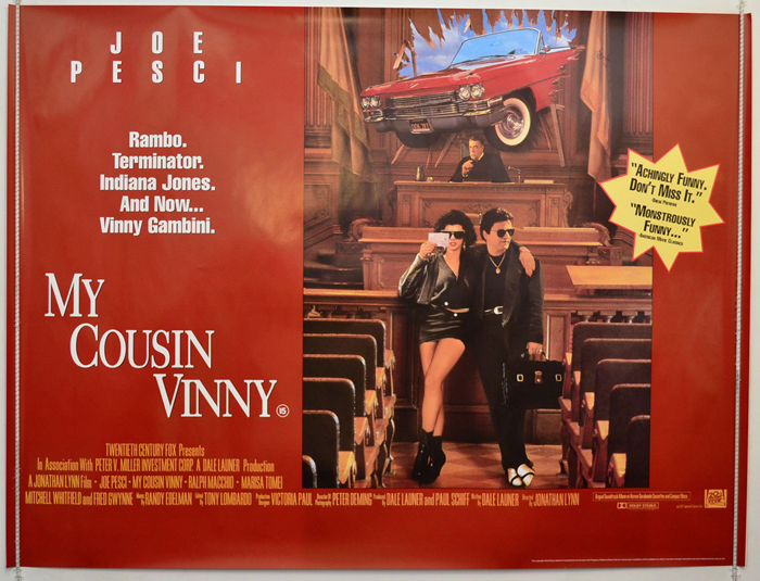 My Cousin Vinny - Original Cinema Movie Poster From pastposters.com British  Quad Posters and US 1-Sheet Posters
