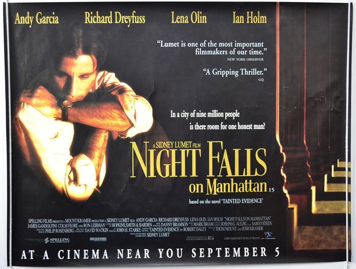 Night Falls On Manhattan Original Cinema Movie Poster From