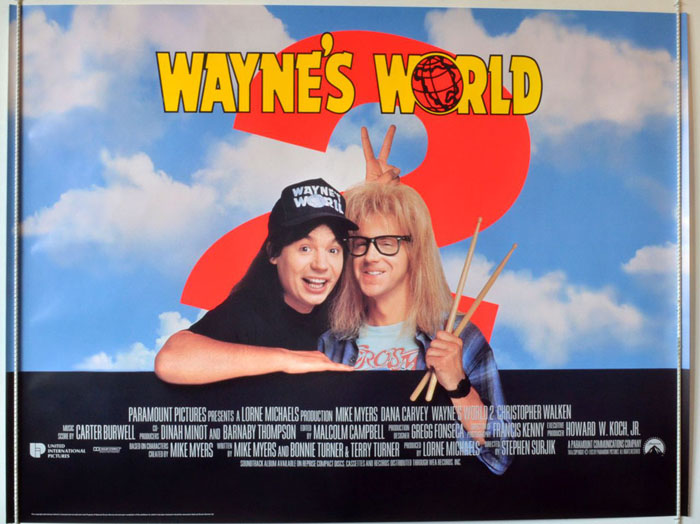 Wayne's World 2 - Original Cinema Movie Poster From pastposters ...