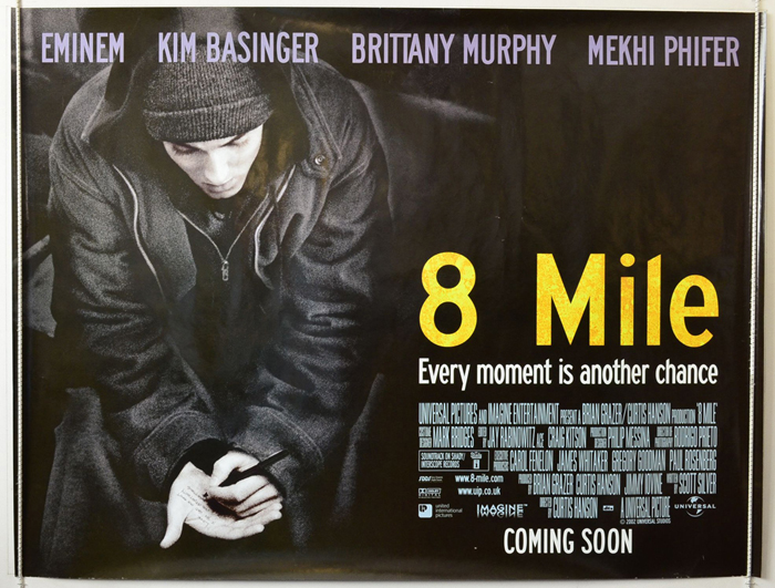 8 Mile - Original Cinema Movie Poster From pastposters.com British ...