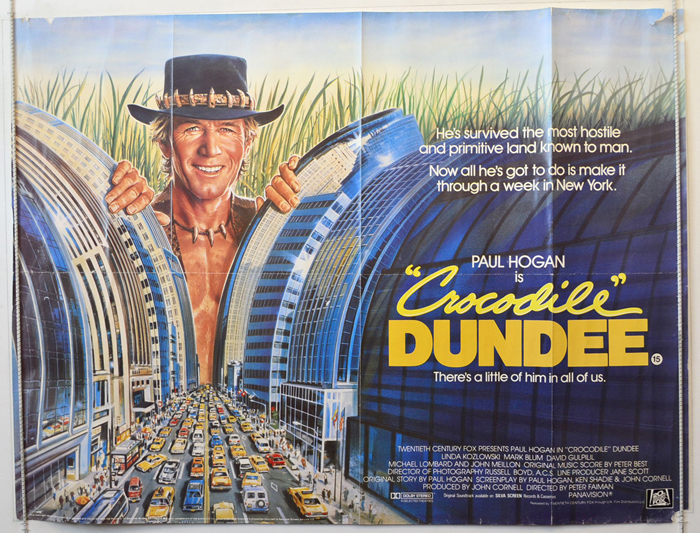 Image result for crocodile dundee poster