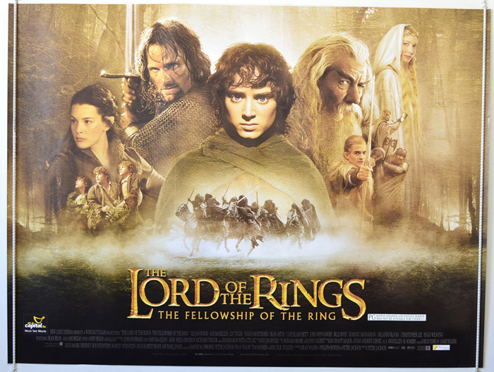 Lord Of The Rings : The Fellowship Of The Ring - Original Cinema Movie  Poster From pastposters.com British Quad Posters and US 1-Sheet Posters