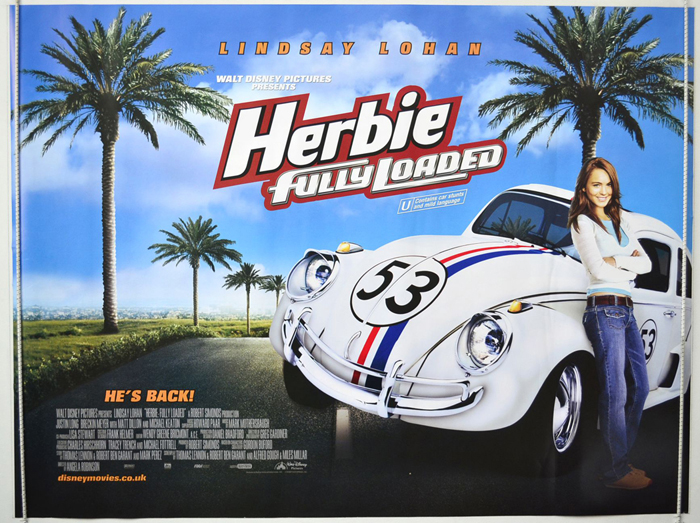 Herbie : Fully Loaded - Original Cinema Movie Poster From ...