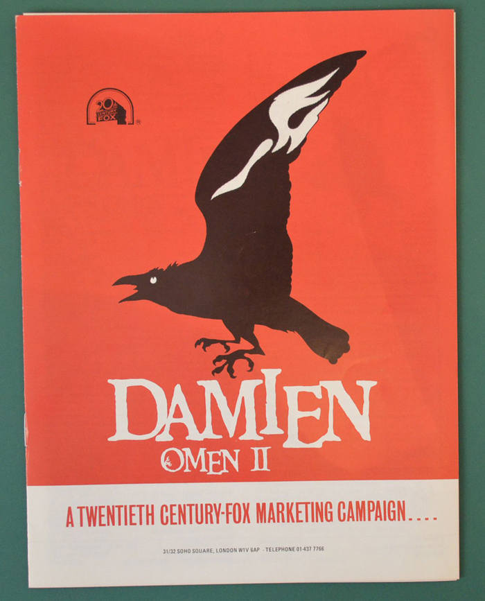 Damien : Omen II <p><i> Original 8 Page Cinema Exhibitors Campaign Press Book </i></p>