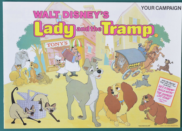 Lady And The Tramp 1984 Re Release P I Original 12 Page Cinema Exhibitors Campaign Press Book I P Original Cinema Movie Poster From Pastposters Com British Quad Posters And Us 1 Sheet Posters