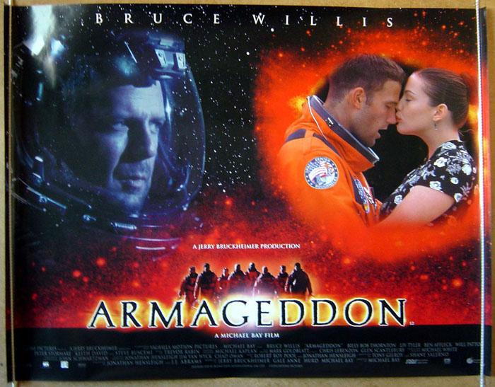 armageddon original cinema movie poster from