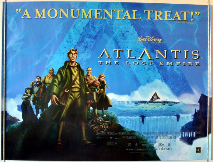 Atlantis : The Lost Empire - Original Cinema Movie Poster From ...