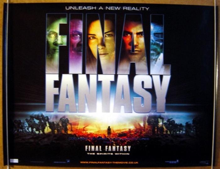 Final Fantasy The Spirits Within Original Cinema Movie Poster