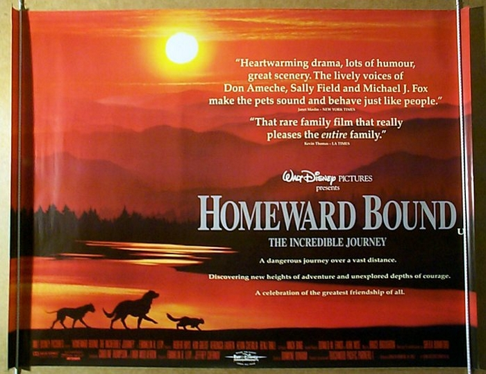 Homeward Bound : The Incredible Journey - Original Cinema Movie Poster From pastposters.com ...