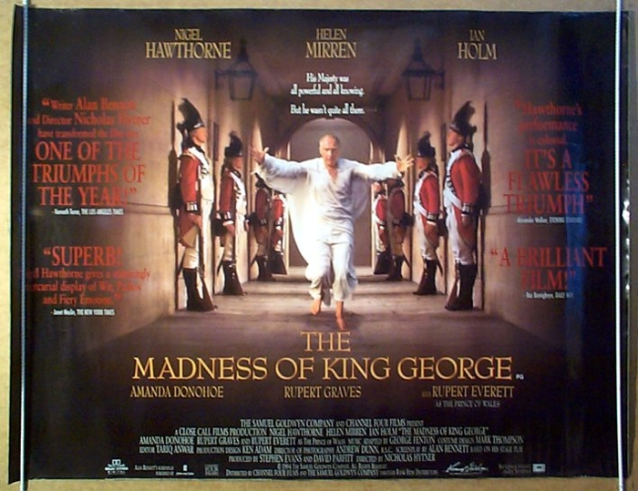 Madness Of King George (The) - Original Cinema Movie Poster From ...