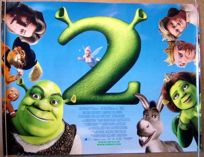 Shrek 2 Original Cinema Movie Poster From Pastposters Com British Quad Posters And Us 1 Sheet Posters