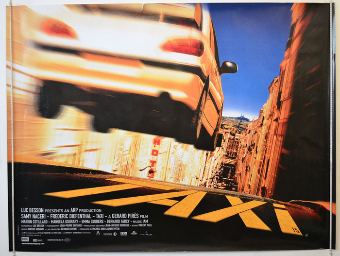 Taxi <p><i> (Luc Besson Presents) </i></p> - Original Cinema Movie ...