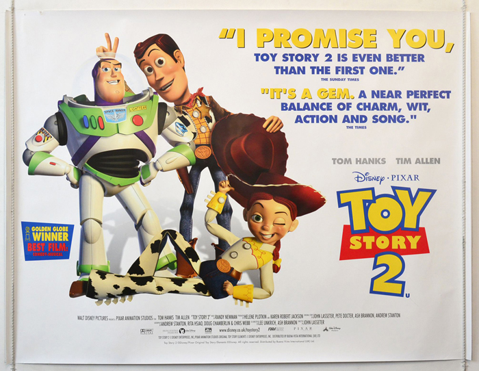Toy Story 2 Original Cinema Movie Poster From