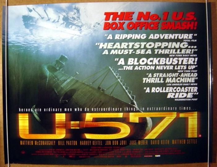 u571 original cinema movie poster from pastposterscom
