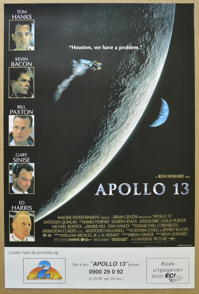 Apollo 13 <p><i> (Original Belgian Movie Poster) </i></p>
