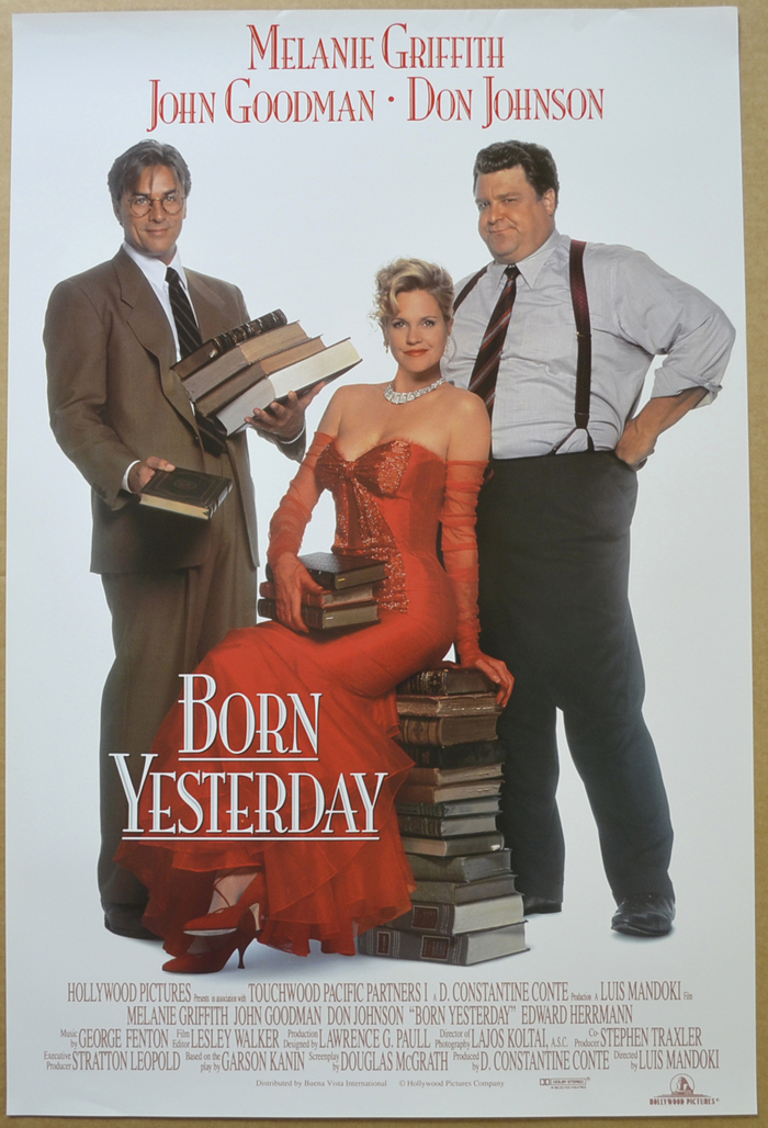 Born Yesterday <p><i> (Original Belgian Movie Poster) </i></p>