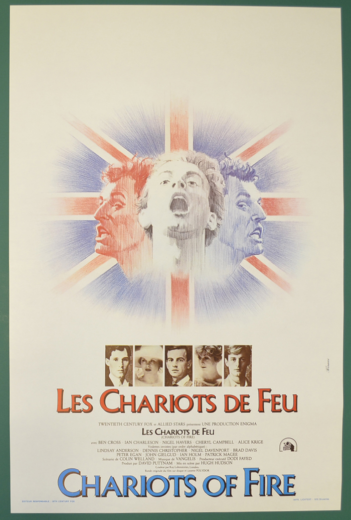 Chariots Of Fire <p><i> (Original Belgian Movie Poster) </i></p>