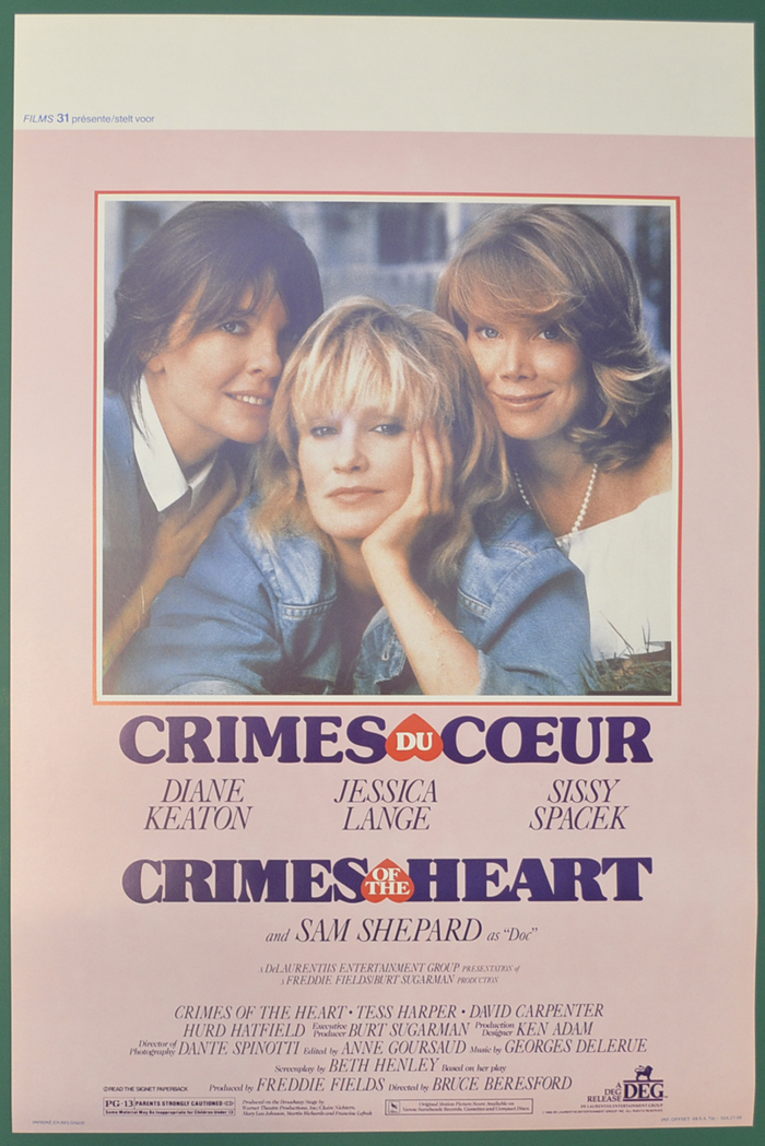 Crimes Of The Heart <p><i> (Original Belgian Movie Poster) </i></p>