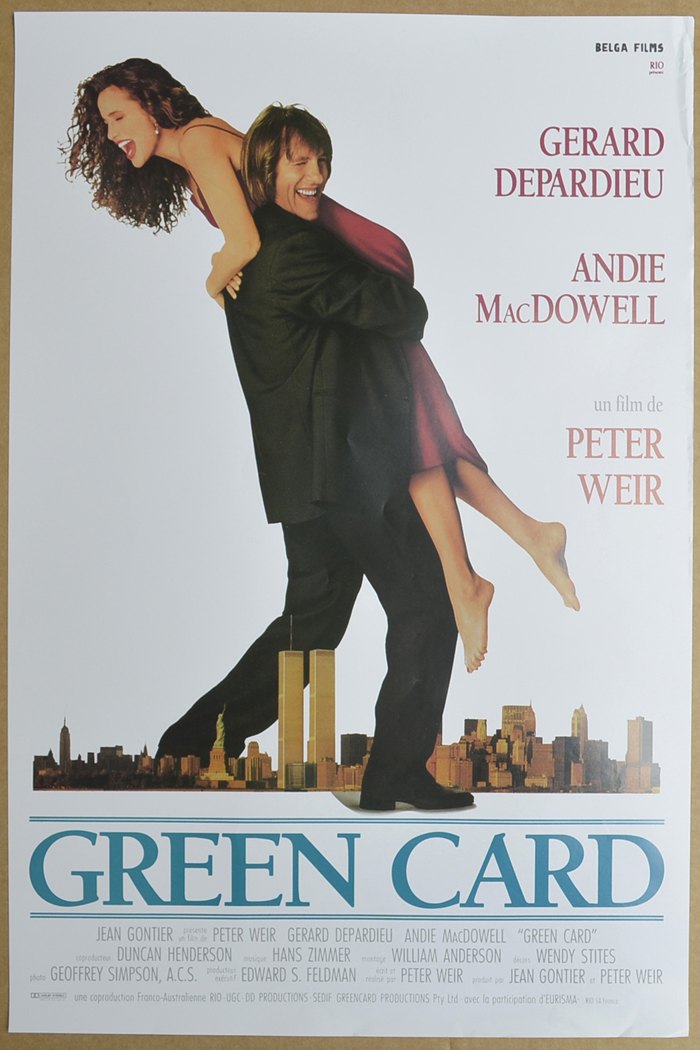 Green Card <p><i> (Original Belgian Movie Poster) </i></p>