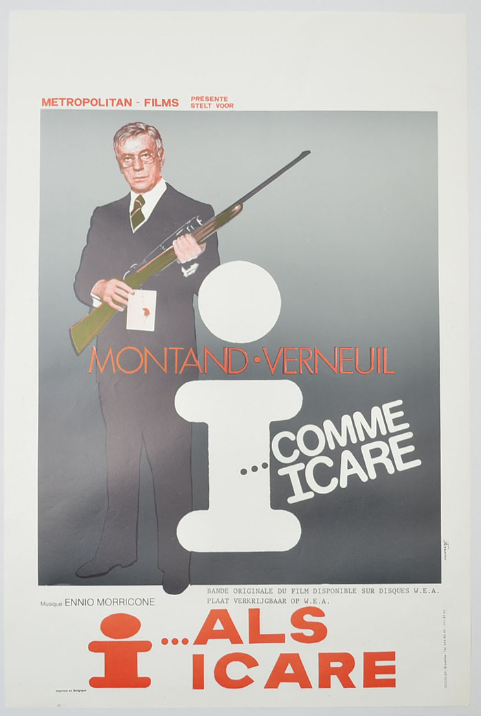 I... comme Icare <p><i> (Original Belgian Movie Poster) </i></p>