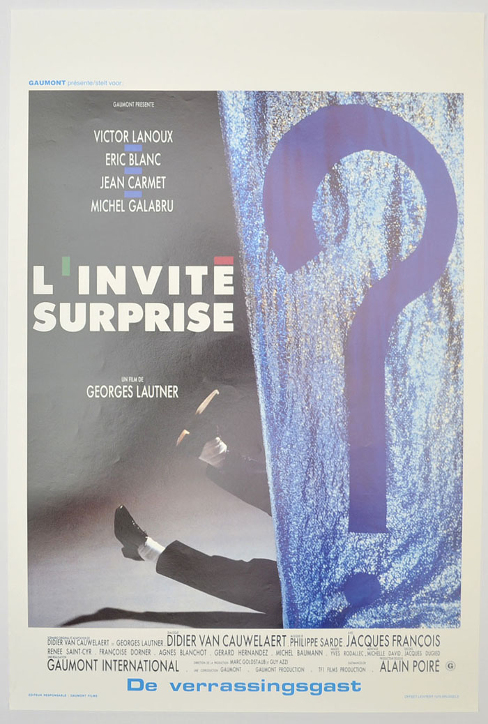 L'invité surprise <p><i> (Original Belgian Movie Poster) </i></p>