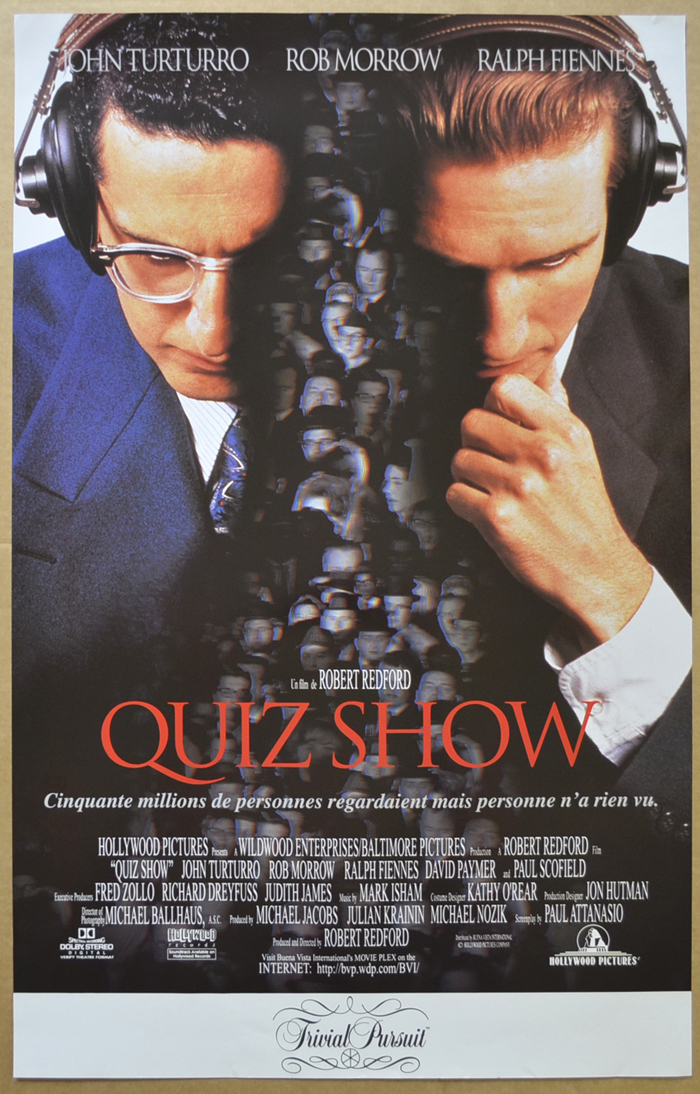 Quiz Show <p><i> (Original Belgian Movie Poster) </i></p>