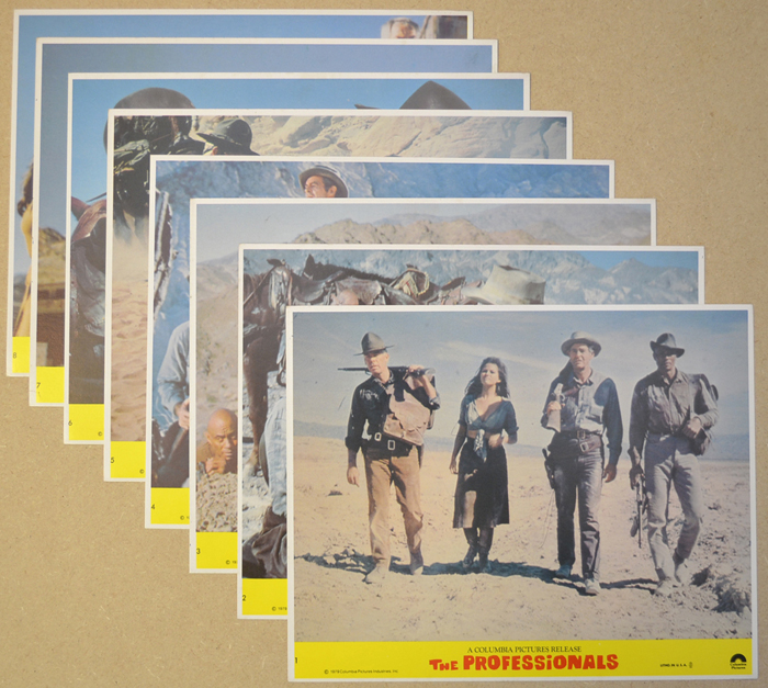 Professionals (The) <p><a> Set of 8 Original Colour Front Of House Stills / Lobby Cards  </i></p>