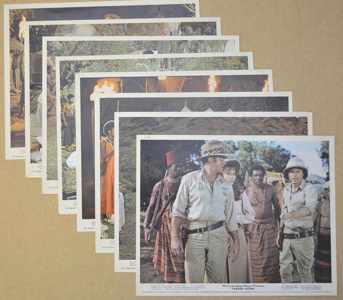 Trader Horn <p><a> Set of 8 Original Colour Front Of House Stills / Lobby Cards  </i></p>