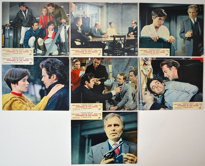 Stranger In The House <p><a> 7 Original Colour Front Of House Stills / Lobby Cards </i></p>