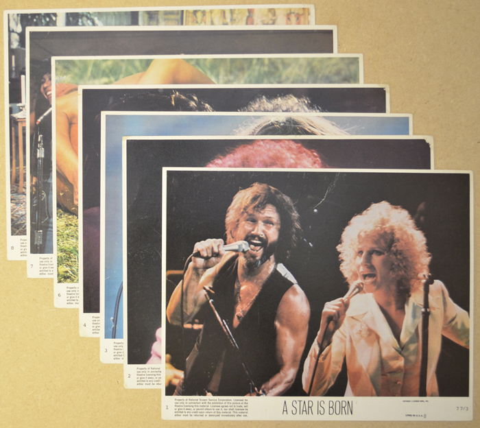 A Star Is Born <p><a> 7 Original Colour Front Of House Stills / Lobby Cards </i></p>