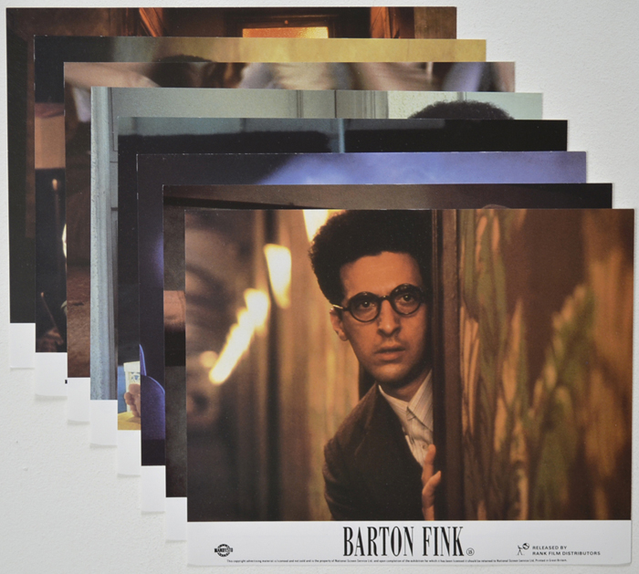 Barton Fink <p><a> Set of 8 Original Colour Front Of House Stills / Lobby Cards  </i></p>