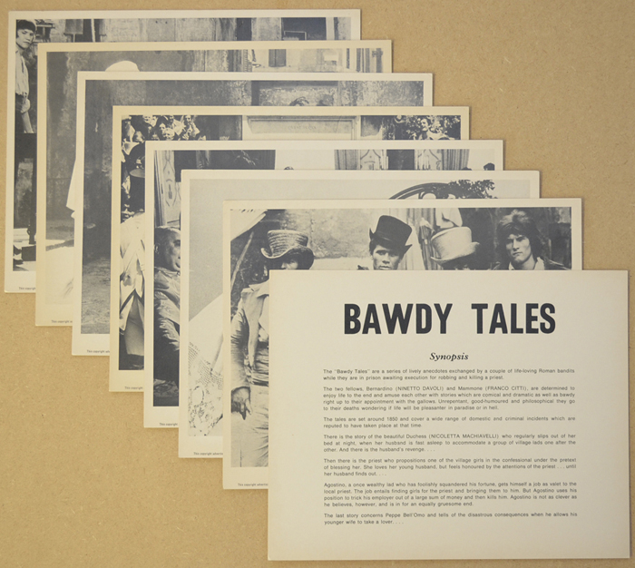Bawdy Tales <p><a> Set of 8 Original Black and White Front Of House Stills / Lobby Cards  </i></p>