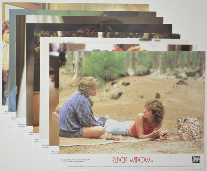 Black Widow <p><a> Set of 8 Original Colour Front Of House Stills / Lobby Cards  </i></p>