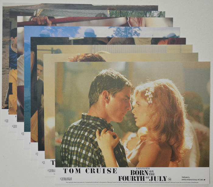 Born On The Fourth Of July <p><a> Set of 8 Original Colour Front Of House Stills / Lobby Cards  </i></p>