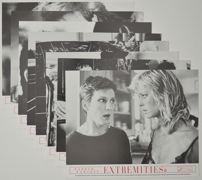 Extremities <p><a> Set of 8 Original Front Of House Stills / Lobby Cards  </i></p>