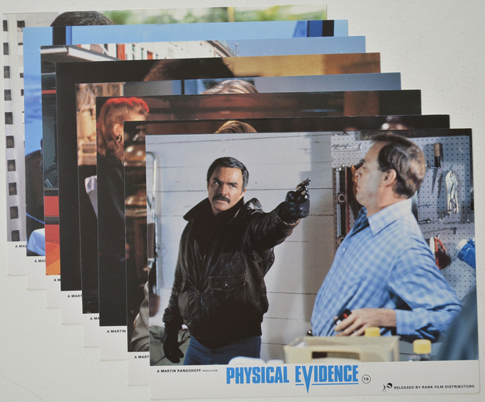 Physical Evidence <p><a> Set of 8 Original Colour Front Of House Stills / Lobby Cards </i></p>