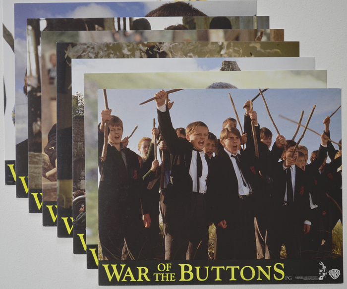 War Of The Buttons <p><a> Set of 8 Original Colour Front Of House Stills / Lobby Cards </i></p>