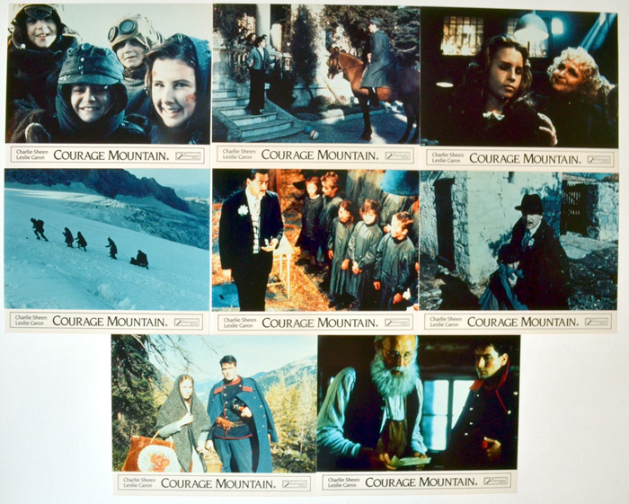 Courage Mountain <p><a> Set of 8 Original Colour Front Of House Stills / Lobby Cards </i></p>