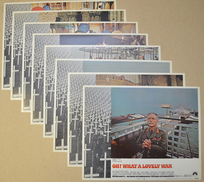 Oh! What A Lovely War <p><i> Set Of 8 Cinema Lobby Cards </i></p>