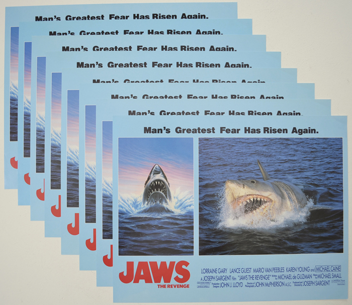 Jaws - The Revenge <p><a> Set Of 8 Cinema Lobby Cards </i></p>