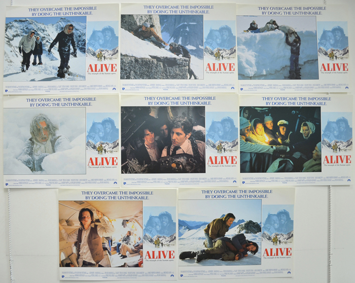 Alive <p><a> Set Of 8 Cinema Lobby Cards </i></p>