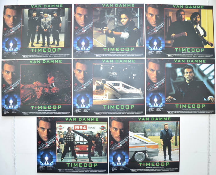 Timecop <p><a> Set Of 8 Cinema Lobby Cards </i></p>
