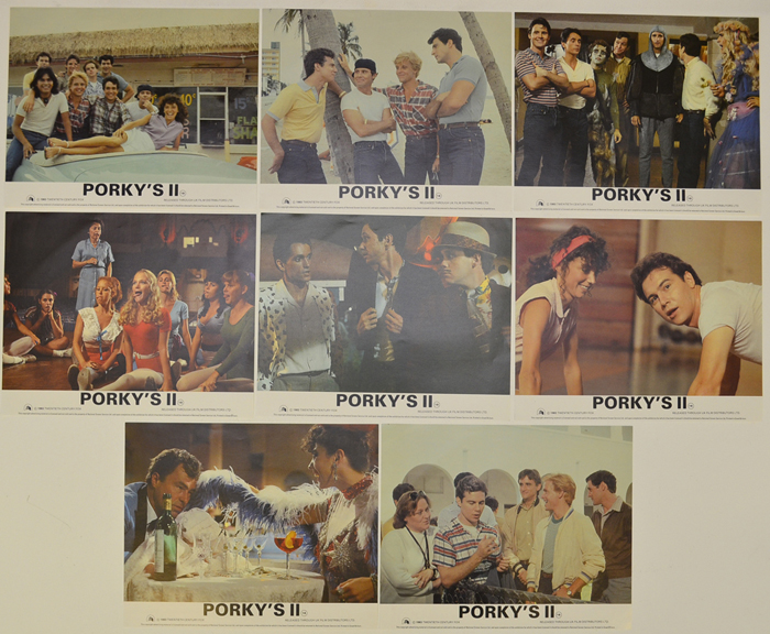 Porky's II <p><a> Set of 8 Original Lobby Cards / Colour Front Of House Stills </i></p>