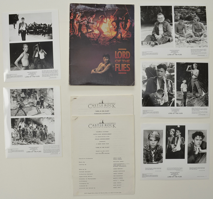 Lord Of The Flies <p><i> Original Press Kit with 5 Black & White Stills </i></p>