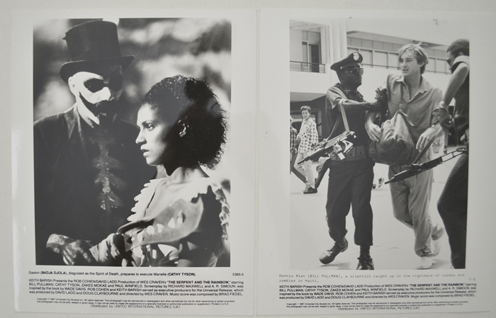 Serpent And The Rainbow (The) <p><a> 2 Original Black And White Press Stills </i></p>