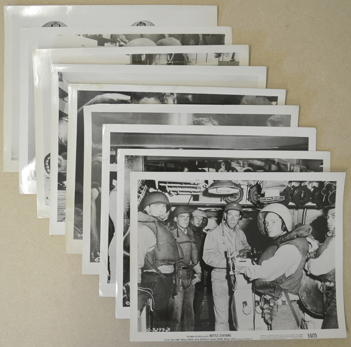 Battle Stations <p><i> 9 Original Black And White Press Stills - Set B</i></p>