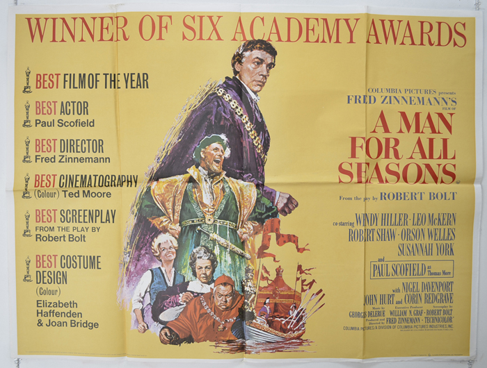 A Man For All Seasons - Original Cinema Movie Poster From ...